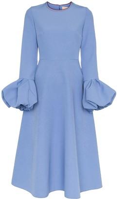 Roksanda Aylin bell sleeve flared midi dress