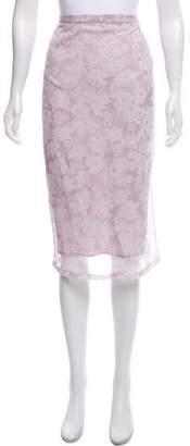 Burberry Floral Print Knee-Length Skirt w/ Tags