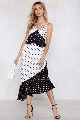 Nasty Gal Rooted to the Spot Polka Dot Dress