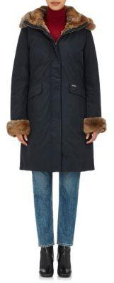 Woolrich John Rich & Bros. WOOLRICH JOHN RICH & BROS. WOMEN'S LONG ARCTIC FAILLE DOWN PARKA-NAVY SIZE NA $1,295 thestylecure.com
