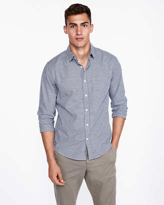 Express Slim Checked Soft Wash Shirt