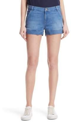 Frame Mitered Cuff Denim Shorts