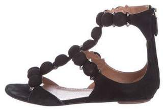 Alaia Chamois Bombe Studded Sandals