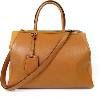 Fendi 2Jours Camel Leather Handbag