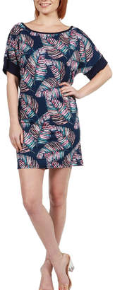 24/7 Comfort Apparel Feather Print Mini