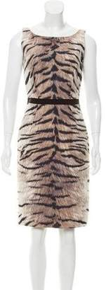 Giambattista Valli Sleeveless Animal Print Dress