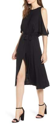 Bishop + Young BISHOP AND YOUNG Slit Sleeve Wrap Style Dress