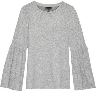 Bobeau Cozy Knit Flare Sleeve Sweater