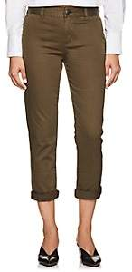 Current/Elliott Women's Confident Cotton Mid-Rise Pants - Green