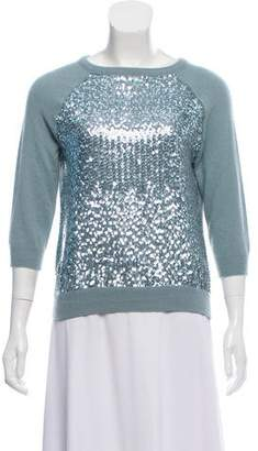 Allude Long sleeve Sequin Sweater
