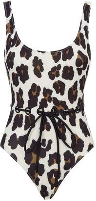 Solid & Striped Anne-Marie Leopard Swimsuit