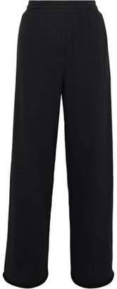Alexander Wang Mélange Cotton-Blend Jersey Wide-Leg Pants