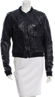 Boy. by Band of Outsiders Leather Bomber Jacket $245 thestylecure.com