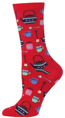 Hot Sox Women's Novelty Tea Pots Socks