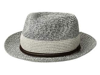 4dda9c65640f9 San Diego Hat Company PBF7333 - Packable Fedora with Faux Suede Band
