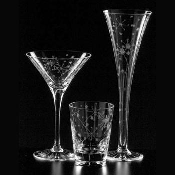 Artel - fireworks clear glassware by artel