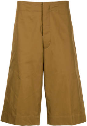 Jil Sander over the knee tailored shorts