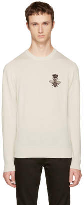 Dolce & Gabbana Off-White Bee Sweater