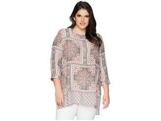 Roper Plus Size 1574 Scarf Print Tunic Women's Clothing