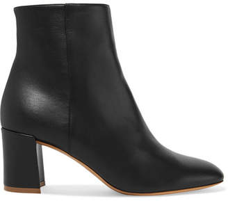 Mansur Gavriel Leather Ankle Boots - Black