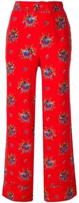 Ganni floral trousers