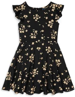 Ralph Lauren Little Girl's & Girl's Floral Flutter Dress