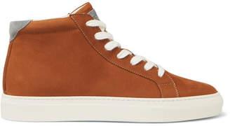 Brunello Cucinelli Nubuck High-Top Sneakers