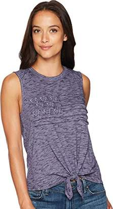 Lucky Brand Women's Flag Graphic TIE Tank TOP
