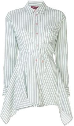 Sies Marjan asymmetric striped shirt