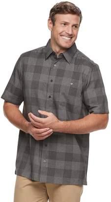 Haggar Big & Tall Regular-Fit Microfiber Woven Button-Down Shirt