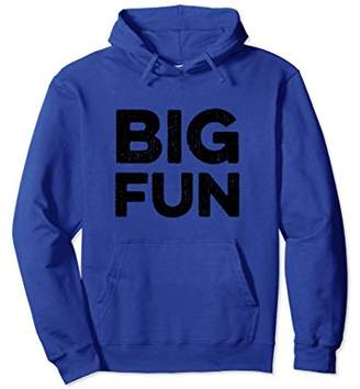 Big Fun Distressed Novelty 1980s Hoodie
