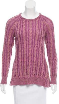 Elizabeth and James Cable-Knit Long Sleeve Sweater