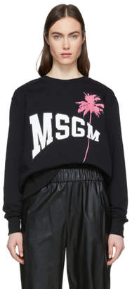 MSGM Black Palm Sweatshirt