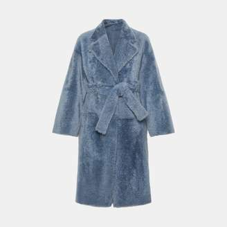 Theory Shearling Robe Coat