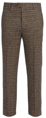 Missoni Mid Rise Houndstooth Wool Trousers - Mens - Navy Multi
