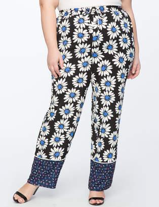 ELOQUII Contrast Print Pajama Pant