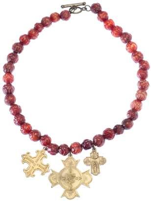 French Kande Burnt Jade Necklace