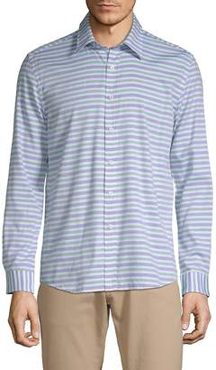 Hyden Yoo Men's Striped Cotton Button-Down Shirt