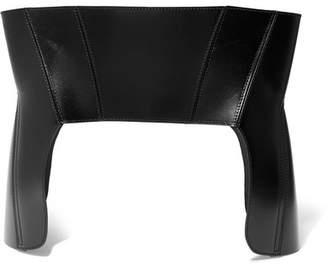 Alexander McQueen Leather Corset Belt - Black