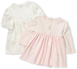 Little Me Infant Girls) Two-Piece Dog Motif Dress Set