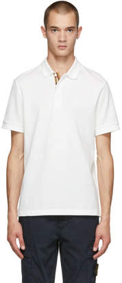 Burberry White Hartford Polo