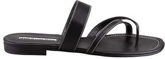 Manolo Blahnik Susa Flat Leather Sandals