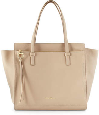 Salvatore Ferragamo Amy Large Tote Bag, New Bisque/Gold $1,390 thestylecure.com