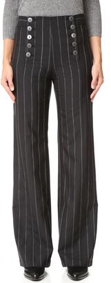 Nanette Lepore Painter Pin Stripe Pants $298 thestylecure.com