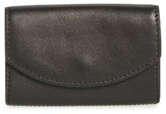 Women's Skagen Leather Card Case - Black $45 thestylecure.com