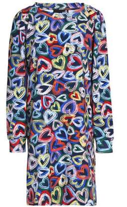 Love Moschino Printed Cotton-Blend Stretch-Knit Dress