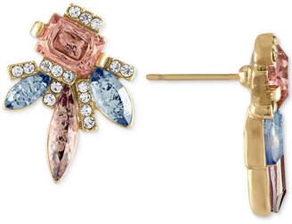Rachel Roy Gold-Tone Cluster Stone Earrings