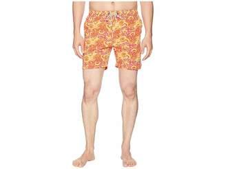 Psycho Bunny Paisley Print Swim Trunks Men's Swimwear