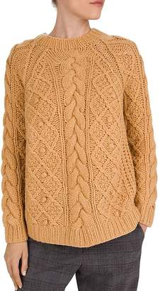 Gerard Darel Sun Chunky-Knit Wool Sweater