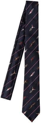 Thom Browne Classic Swimmer Silk Jaquard Tie